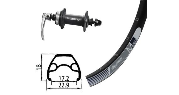 Rodi M460 Vorderrad 26x1.9 32L Disc mit Alivio 435 Centerlock schwarz